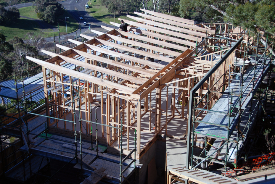 Butterfly Roof Steel : Purlins rafters and butterfly roofs hobart hill house