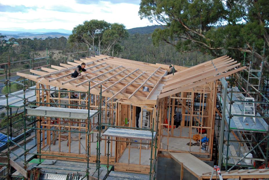Purlins Rafters And Butterfly Roofs Hobart Hill House